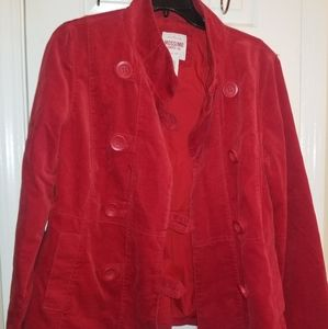 Mossimo Red Lightweight Peacoat Jacket XL